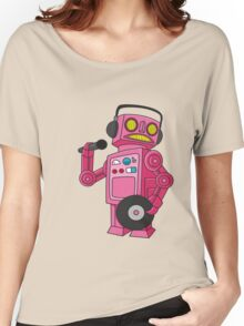 hey robot dj Women's Relaxed Fit T-Shirt