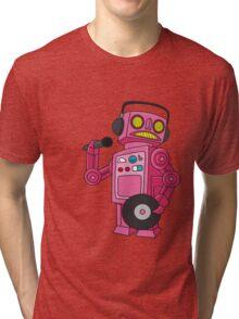 hey robot dj Tri-blend T-Shirt