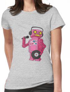 hey robot dj Womens Fitted T-Shirt