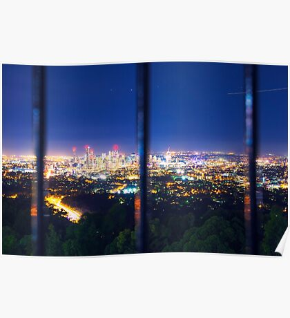 View of Brisbane City from Mount Coot-tha Poster