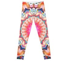 Colorful Flower Abstract Leggings