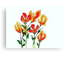Orange and Yellow Flowers Canvas Print