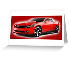 Fiery red chevrolette Greeting Card