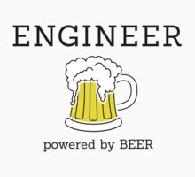 Engineer (powered by beer) by Stock Image Folio