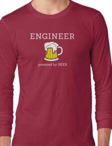 Engineer (powered by beer) Long Sleeve T-Shirt