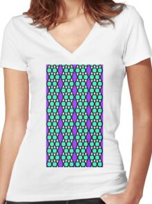 Hexatessel Women's Fitted V-Neck T-Shirt
