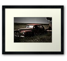 A Rusted Relic of World War 2 Framed Print