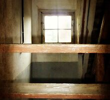 The Attic Window with Stairs by Bine