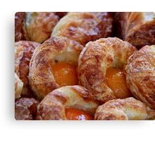 Apricot Pastry Canvas Print