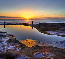 Sunrise Ivo Rowe Pool Coogee Sydney by Barry Culling