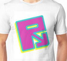 "Rusty ""Yellow Blue Purple"" Unisex T-Shirt"