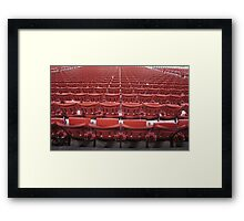 Stadium Seating Framed Print