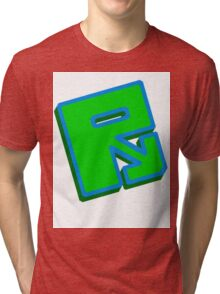 "Rusty ""Green Blue"" Tri-blend T-Shirt"