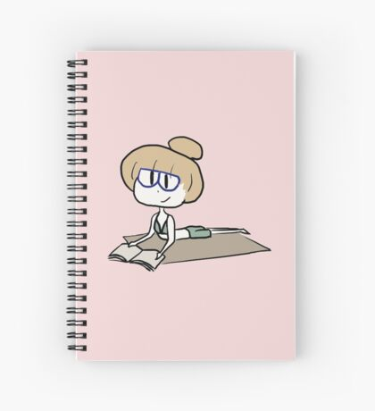 Studying on the beach Spiral Notebook