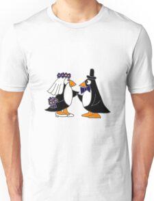Awesome Penguin Bride and Groom Art Original Unisex T-Shirt