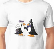 Awesome Penguin Bride and Groom Art Original Unisex T-Shirt