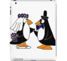 Awesome Penguin Bride and Groom Art Original iPad Case/Skin