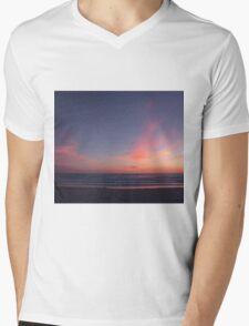Gentle waves at sunset Mens V-Neck T-Shirt
