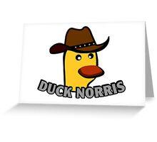 Duck Norris Duck Greeting Card