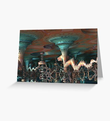 Alien Underground Cave Greeting Card