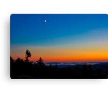 Cadillac Mountain at Sunset Canvas Print