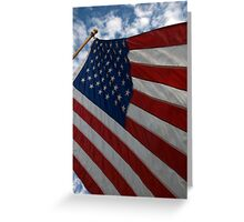 Old Glory On 9-11-11 Greeting Card