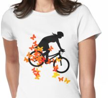 Butterfly bike  Womens Fitted T-Shirt