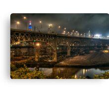 Interbelt FWY Bridge, Cleveland , Ohio Canvas Print
