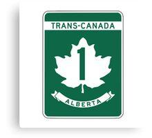 Alberta, Trans-Canada Highway Sign Canvas Print