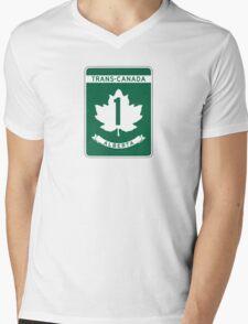 Alberta, Trans-Canada Highway Sign Mens V-Neck T-Shirt