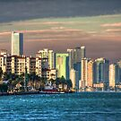 Miami Heat- downtown on a sweltering day by njordphoto