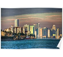 Miami Heat- downtown on a sweltering day Poster