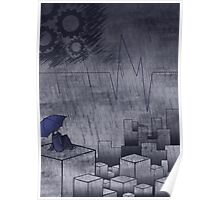 Blue City in the Rain Poster