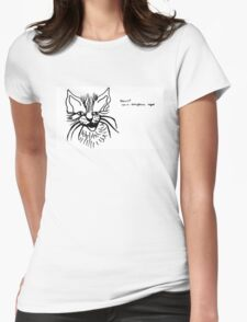 Rawr! I'm a dangerous tiger (black on white) Womens Fitted T-Shirt