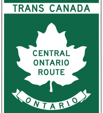 Ontario, Trans-Canada Highway Sign Sticker