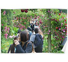 The Rose Garden in Butchart Gardens... Poster