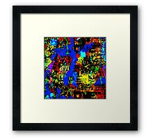 LOVE AND GRAFFITI Framed Print