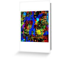 LOVE AND GRAFFITI Greeting Card