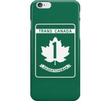 Saskatchewan, Trans-Canada Highway Sign iPhone Case/Skin