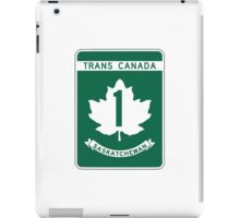 Saskatchewan, Trans-Canada Highway Sign iPad Case/Skin