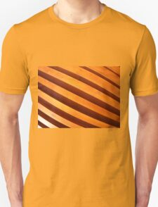 Wooden boards wall with wide angle fisheye view T-Shirt