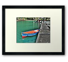 Dinghy, Whangaroa, Northland, New Zealand. Framed Print