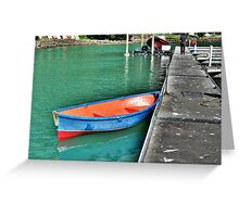 Dinghy, Whangaroa, Northland, New Zealand. Greeting Card