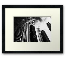 Gloomy city Framed Print