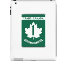 Prince Edward Island, Trans-Canada Highway Sign iPad Case/Skin