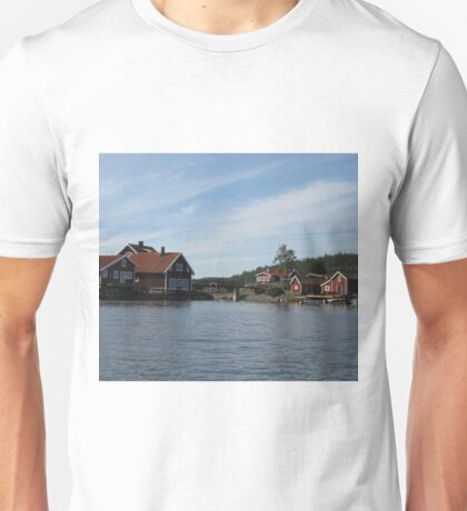 old fishing port in northern Sweden Unisex T-Shirt