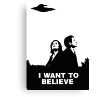 MULDER & SCULLY - I WANT TO BELIEVE Canvas Print