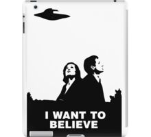 MULDER & SCULLY - I WANT TO BELIEVE iPad Case/Skin