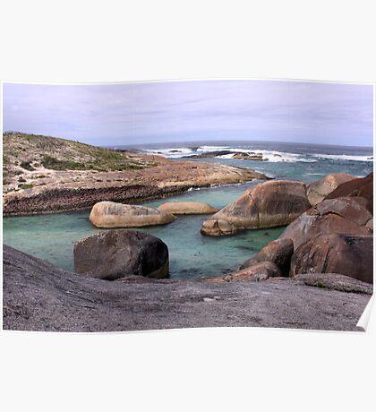 Elephant Rocks, West Australia Poster