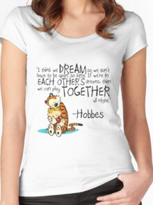 Hobbes Dream Quotes Women's Fitted Scoop T-Shirt